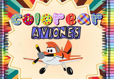 Colorear Aviones Disney