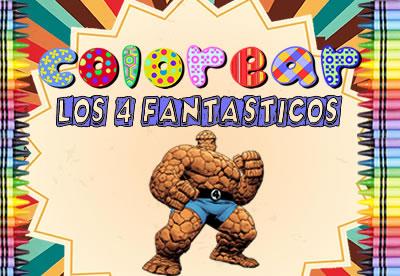 Colorear Los 4 Fantasticos