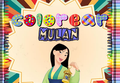 Colorear Mulán Disney