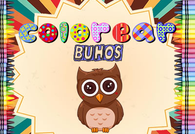 Diviértete pintando los mejores dibujos online de Buhos