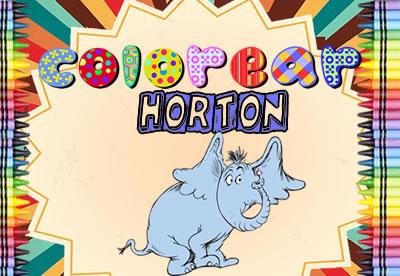 Diviértete pintando los mejores dibujos online de Horton