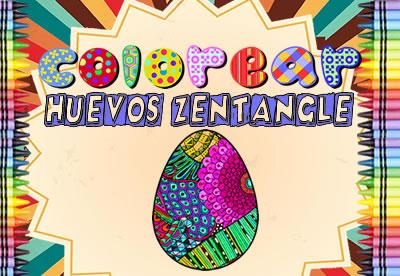 Diviértete pintando los mejores dibujos online de Huevos Zentangle