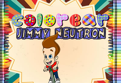 Diviértete pintando los mejores dibujos online de Jimmy Neutron