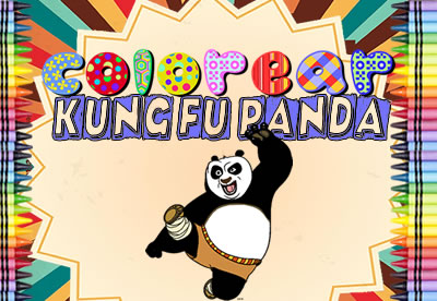 Colorear Kung Fu Panda