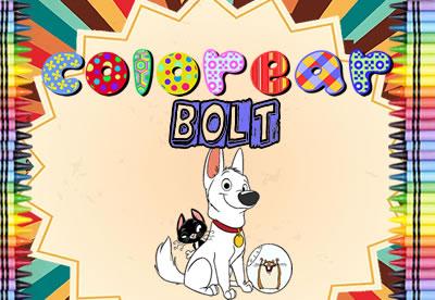Diviértete pintando los mejores dibujos online de Bolt