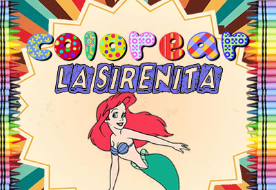 Colorear La Sirenita