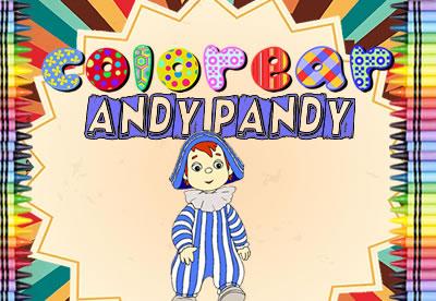 colorear y pintar dibujos Andy Pandy,